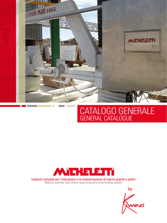 CATALOGO GENERALE - Micheletti Macchine