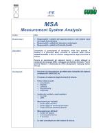 MSA Measurement System Analysis - Cubo Società di Consulenza