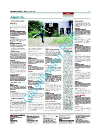 Articolo su Giornale di Brescia per la festa della mietitura di