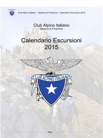 CAI PROGRAMMA 2015 - CAI Sezione di Frosinone