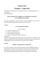 Campo scuola 25 giugno – 3 luglio 2014