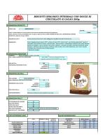 biologico integrale con gocce di cioccolato e cacao