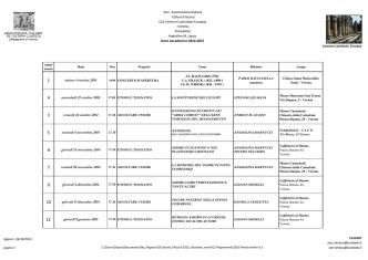 Calendario eventi 2015 AICC VERONA