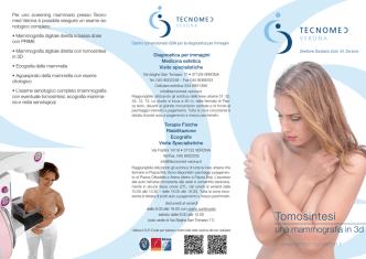 Brochure Tomosintesi, una mammografia in 3D