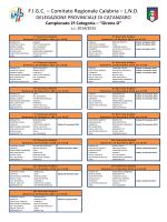 Calendario Seconda Categoria Calabria 2014-2015