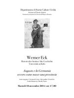 Werner Eck - Unibo magazine