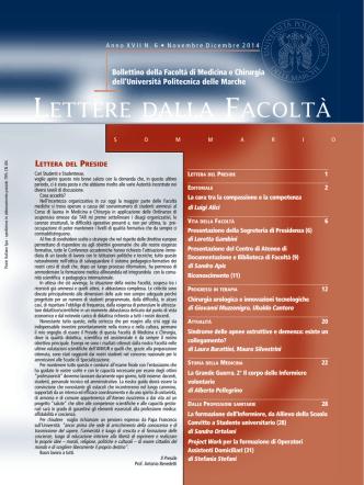 6. Lettere della Facoltà novembre-dicembre 2014