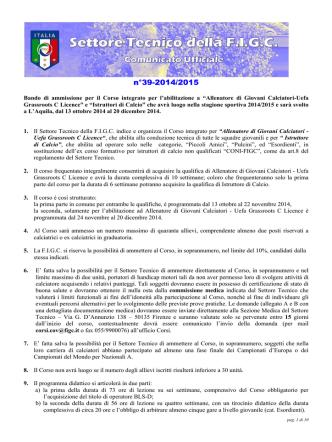 1 - FIGC Settore Tecnico Coverciano