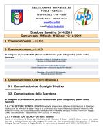 Stagione Sportiva 2014/2015 Comunicato Ufficiale N°23