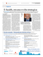 E-health, ora una svolta strategica