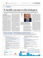 E-health, ora una svolta strategica