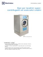 Basi per lavatrici super- centrifuganti ed essiccatoi rotativi