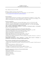 Curriculum Vitae - Università della Calabria