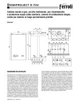 Caldaia Ferroli Domiproject D F24