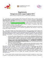 Regolamento Kangourou della Lingua Inglese 2015