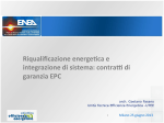 Lo schema di contratto per gli EPC