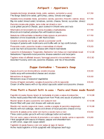 Ristorante Cortefreda - Menù Stagione Invernale 2014