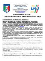cu 59 2014-2015 - Comitato Regionale Campania