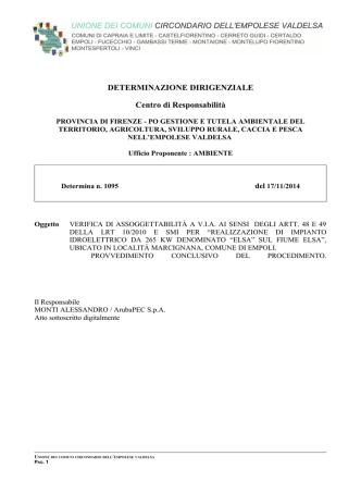 Atto dirigenziale n. 1095 del 17/11/2017 - Urbanistica