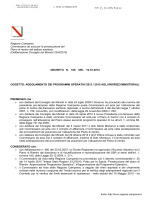 adeguamento dei programmi operativi 2013 / 2015 agli