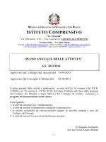 Piano Annuale delle Attività 2013-14