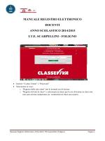 MANUALE REGISTRO ELETTRONICO DOCENTI