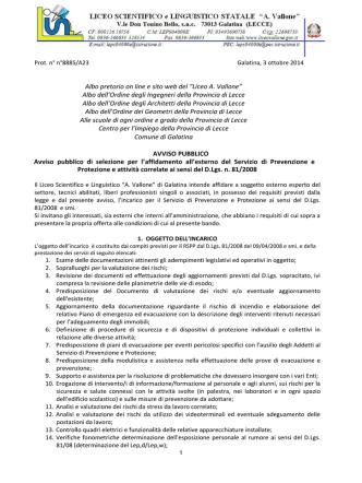 """Albo pretorio on line e sito web del """"Liceo A. Vallone"""" Albo dell"""