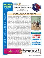 n. 4 – Novembre - Centro Basket del Chiese
