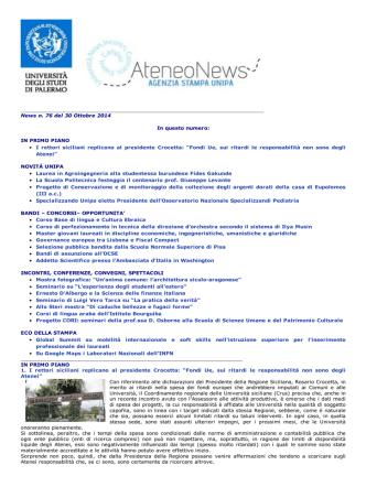 78. Ateneo News n.76 del 30_10_2014