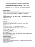 """programmi 3 b - Istituto Comprensivo Statale """"G. Pascoli"""" di Riolo"""