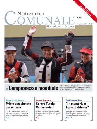 Campionessa mondiale - Gemeindeblatt von Eppan und Kaltern