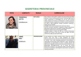 Curriculum - Partito Democratico METROPOLITANO