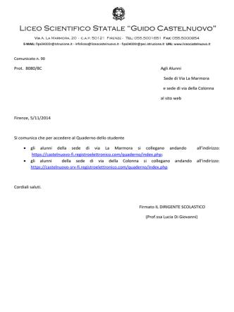 Com. 90 - Liceo Scientifico Castelnuovo