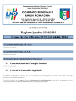 CU 12 SGS... - FIGC Comitato Regionale Emilia Romagna