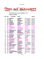 Ordine Arrivo Belvedere 2014