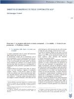 G. VETTORI, Diritto europeo e tutele contrattuali