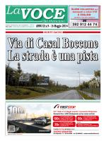 LA VOCE del Municipio 16-05-2014