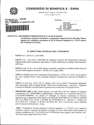 accettazione proposta transattiva e pagamento importi dovuti alla
