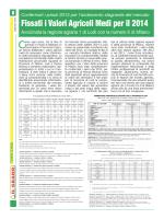 Fissati i Valori Agricoli Medi per il 2014