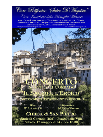 2014 17mag ANTICOLI CORRADO - Coro Polifonico
