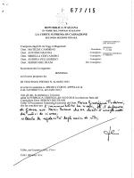 Sentenza - Archivio Penale