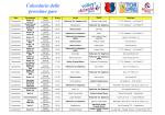 Calendario delle prossime gare