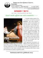 DOMENICA V A DEL T.O. - Parrocchia di Cavarzano