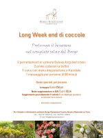Long Week end di coccole