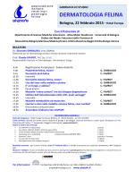 dermatologia felina - Dipartimento di Scienze Mediche Veterinarie