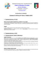 stagione sportiva 2014/2015 comunicato ufficiale n°42del 12marzo