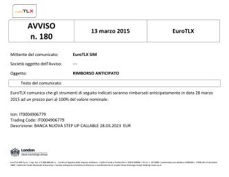 AVVISO n. 180