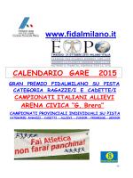 Fidal calendario Provinciale - Atletica