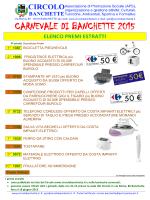 premi estratti - Circolo Banchette Carnevale