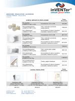 aeratore • regolatori • accessori listino prezzi - italia 2014